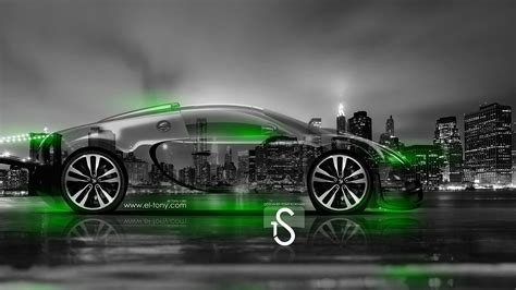 green bugatti bugatti veyron crystal city car 2014 el tony