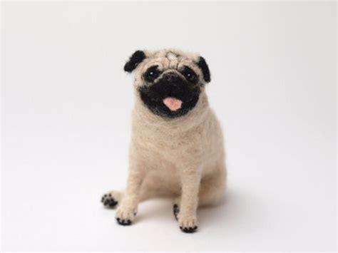 needle felted pug needle felted pug pug