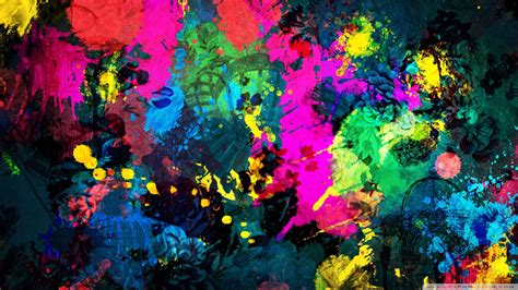 color splatter colorful paint splatter wallpaper 1920x1080
