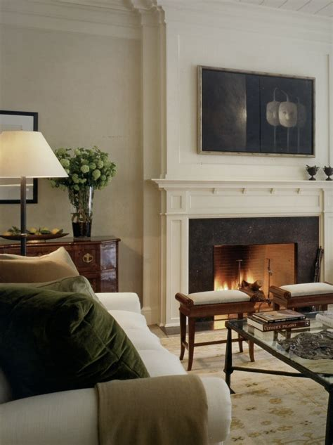 Living Room Mantel Ideas - aesthetically thinking fireside chats