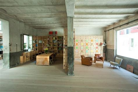 Office Space With Garage Ch Qs Architects Renovates Madrid Garage Into Shared
