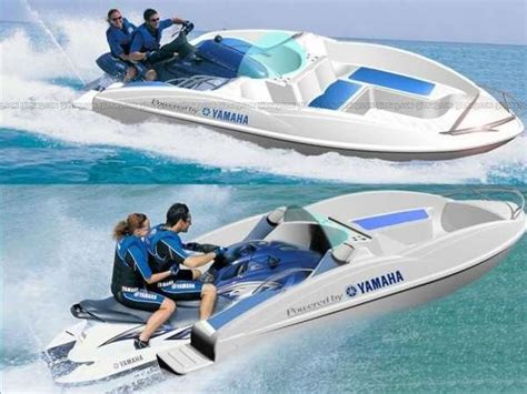 jet ski type boat transformer watercraft yamaha waveboat turns from pwc to