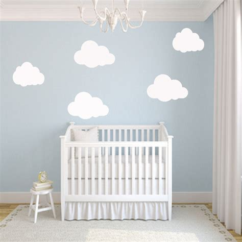 Wall Stickers Uk Nursery nursery cloud wall stickers