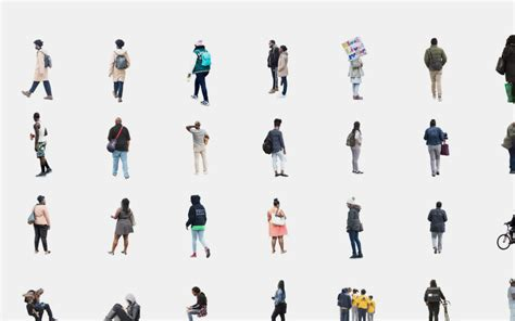how to section a person cutout people 2017 visualizing architecture