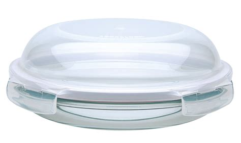 glass storage containers with locking lids lock lock 24cm glass dish with dome lid storage