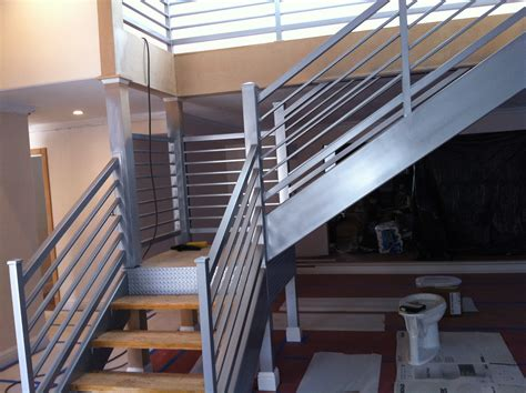Iron Stair Banister by Stairs 187 V M Iron Works Inc In The San Jose Bay Area