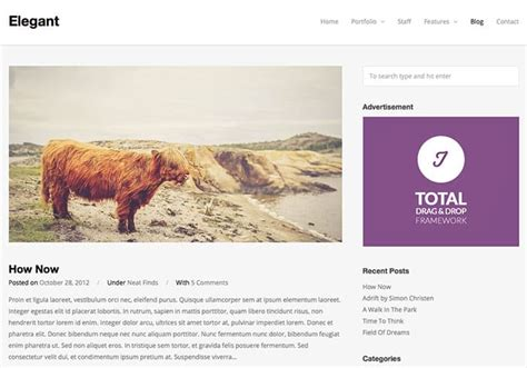 themes wordpress elegant free elegant free wordpress theme of the week web design blog