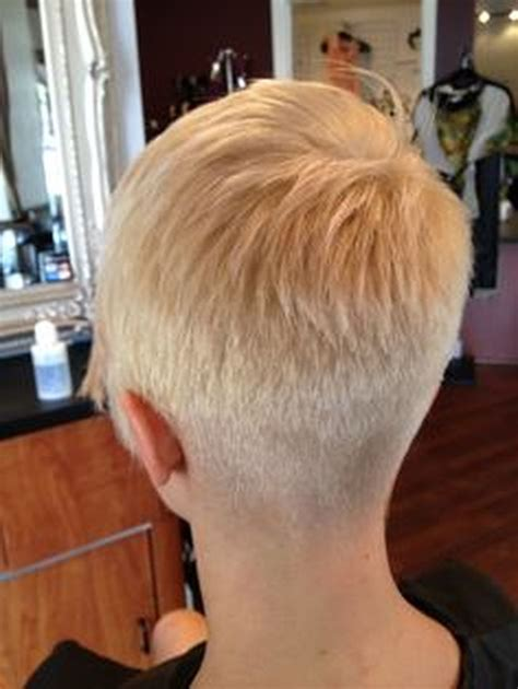 front and back pics og hait cut cool back view undercut pixie haircut hairstyle ideas 25