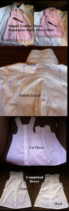 pattern from existing clothes repurpose a men s button down shirt into simple toddler