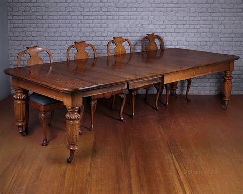 Dining Table 10 Seater 10 Seater Extending Oak Dining Table C 1890 Antiques Atlas