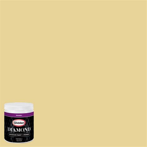 glidden 8 oz hdgy60u illusion of gold eggshell interior paint with primer tester