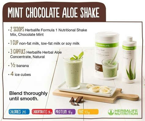 Herba Aloe Mangga Shake Aloe Mangga herbalife mint chocolate chip shake nutrition facts nutrition ftempo