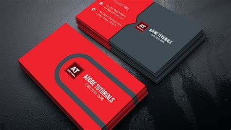 design id card in illustrator clean corporate business card tutorials adobe