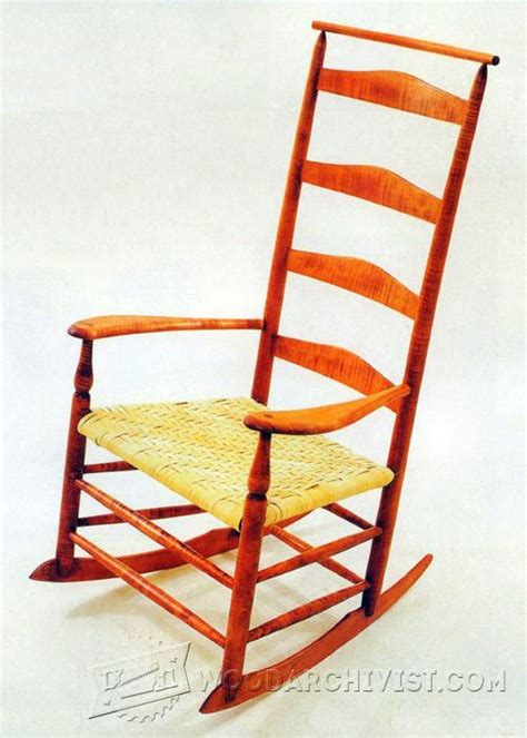 Wooden Rocking Chair Plans by Shaker Rocking Chair Plans Woodarchivist