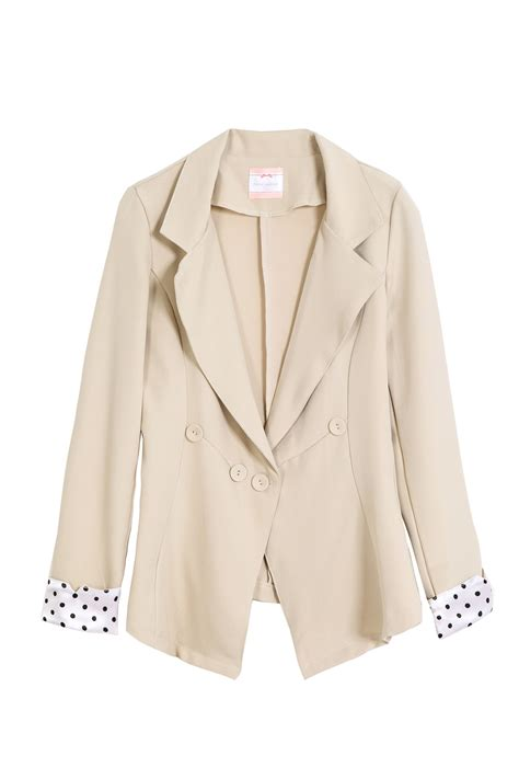Tokyo Blazer tokyo fashion womens blazer with polka dot cuffs japanese korean fashion