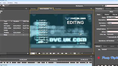 Adobe Encore Cs5 Tutorial using the chapter index in adobe encore cs5 to make menus