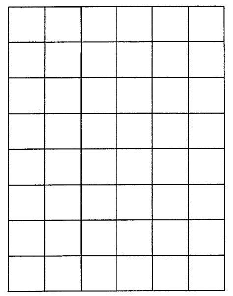 1 Inch Grid Mat by Paper Worksheets Calendar Templates Letter Tracing Sheets