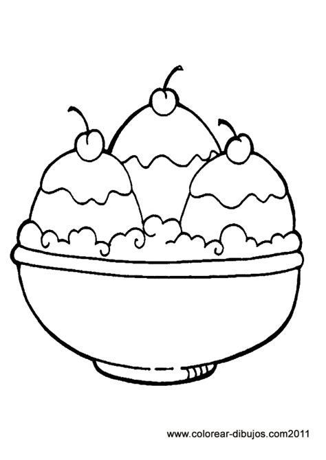 coloring page ice cream sundae free coloring pages of bowl of ice cream