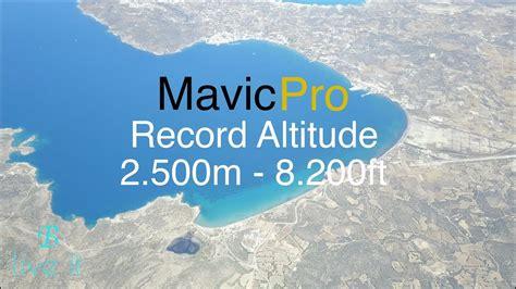dji mavic pro record altitude  ft