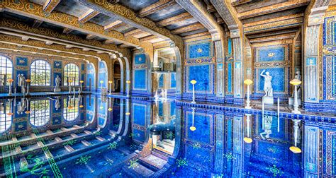 Long Kitchen Island by Indoor Pool At Hearst Castle The Roman Pool At Hearst