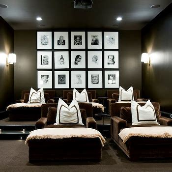 media room chaise lounges basement room traditional basement