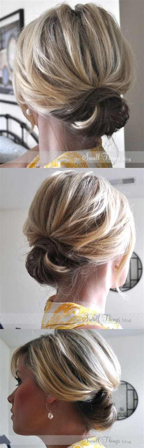 hairdos worn up diy hairstyle chic up do for short hair step by step