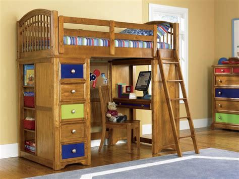 Kid Bunk Beds With Desk Bearrific Loft Drawer And Desk Bunk Bed Contemporary Loft Beds New York By Furniturenyc