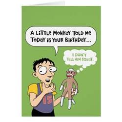 sock monkey birthday card zazzle