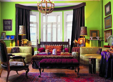 colorful interior a the joker inspired room the bold tones but lighting is key fromepicuretopedicure