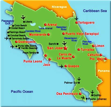 san jose pacifico map costa rica map