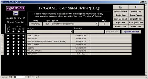 tugboat software tugboat managment software screen shots