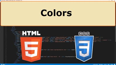 html5 colors html5 and css3 14 colors