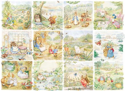 Beatrix Potter Wall Mural character vignettes peter rabbit children s puzzles