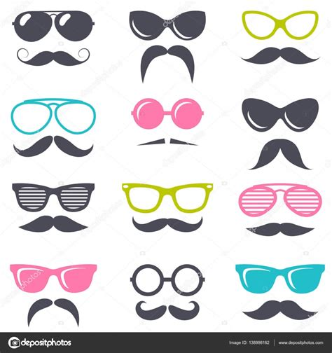 imagenes retro dibujos animados bigote y gafas de sol retros de dibujos animados archivo