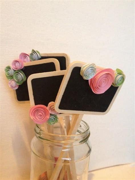 Mini Blackboard Pink mini chalkboard signs pink and green wedding table numbers dessert or food label