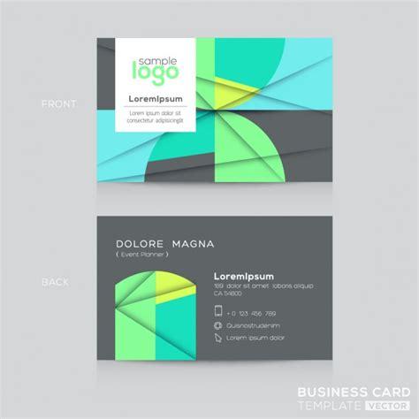 Visitenkarten Design Vorlage Abstrakte Visitenkarten Design Vorlage Der Kostenlosen Vektor