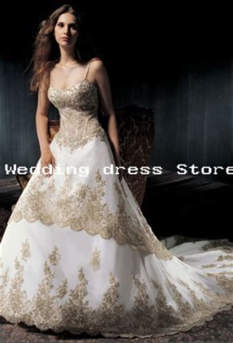Elegancy Gold Dress 07 wedding dress white ivory embroidery satin gown