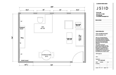 layout plan updated los angeles ca entertainment office executive office