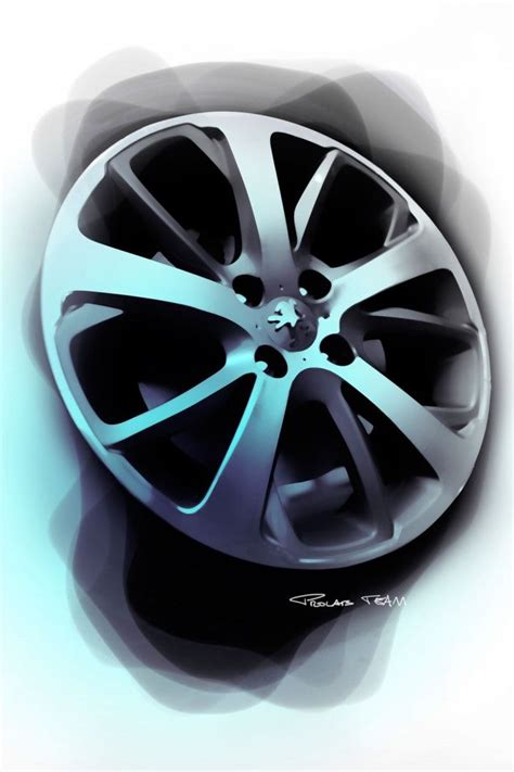 peugeot car wheels peugeot 208 wheel design sketch sketch pinterest
