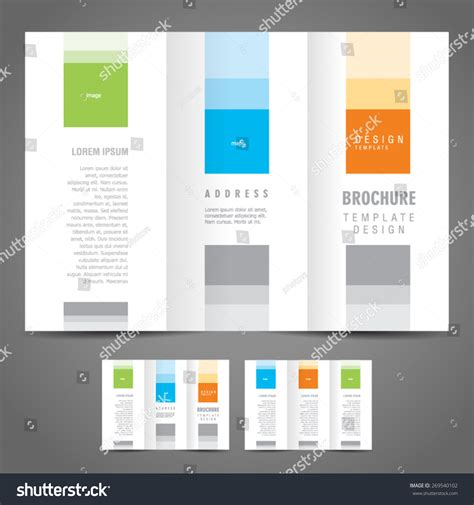simple tri fold brochure template simple brochure design template trifold stock vector