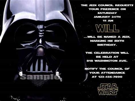darth vader birthday card template the best wars birthday invitations by a pro