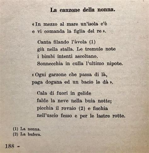 testo e della canzone per la canzone della nonna di costantino nigra i testi d