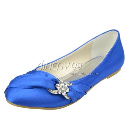 bridesmaids shoes flats flat blue wedding shoes aineny99 bridal shoes toe