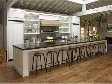 Cheap Kitchen Decorating Ideas by Now That Is A Long Kitchen Island What I Need For My