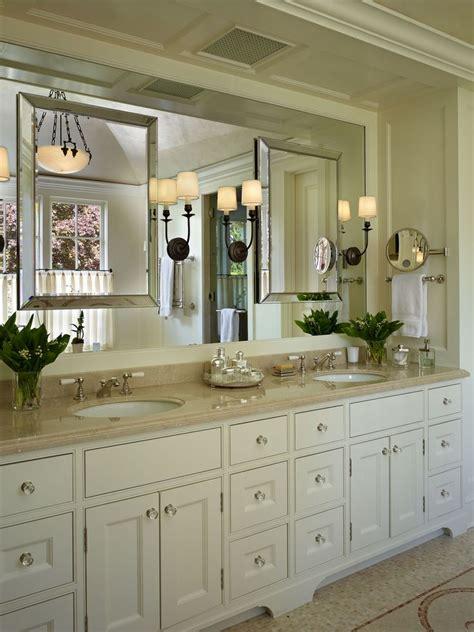 a traditional master bath vanity designed by stuart silk