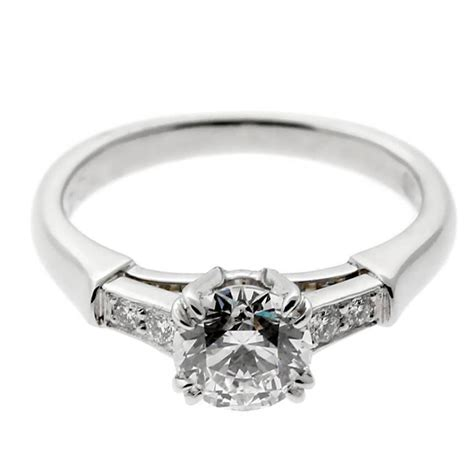 Harry Winston Engagement Ring by Harry Winston Platinum Engagement Ring For Sale At