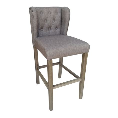 modern contemporary counter stools new modern wood linen barstool 30 quot contemporary bar