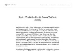 Should Be Banned In Places Essay by Essay About In Places