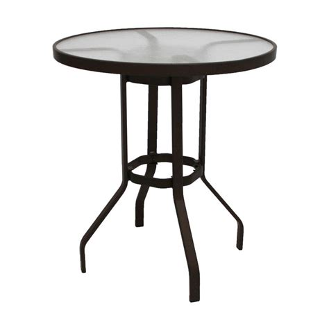 Acrylic Bar Table Marco Island 36 In Cafe Brown Acrylic Top Commercial Bar Height Patio Dining Table B36ah R
