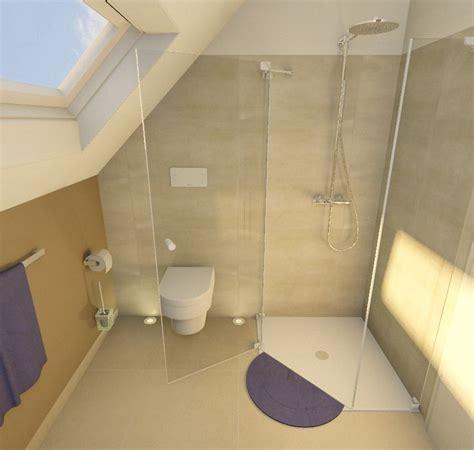 graues und schwarzes badezimmer dachschr 228 ge dusche im eck bad dachschr 228 ge